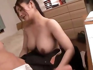 Busty tutor seduces student