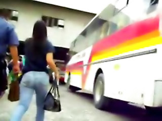 Candid Voyeur Filipina Pinay Sexy Asian Big Butt Jeans