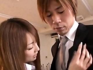 Japanese doll uses her cum-hole to devour a whole penis
