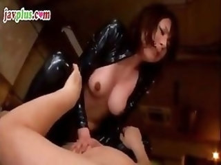 Slutty Asian submissive gets strung up and tortured in her