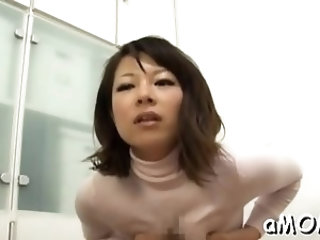 Lovely Yuna Haruma with curvy tits blowing for good