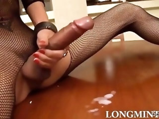 Long Cock Futa in Fishnets