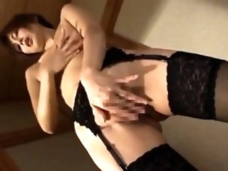 Pleasant japanese milf's pink vagina banged hard and jizzed