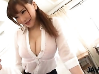 Oriental teacher spreads wide for penis in eager hardcore