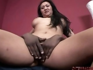 Asian housewife takes big black cock for needed cash