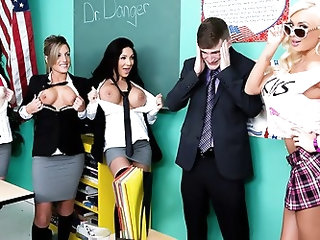 Dr. Brick Danger teaches a study group at ZZ Academy, and when Summer Brielle comes in from spring break wearing a skimpy mini-skirt and causing all o