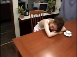 Japanese Fucking Stepmom On The Kitchen Table