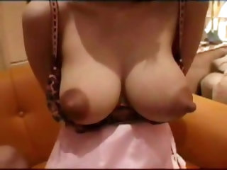 Asian beauty sucked on her big nipples