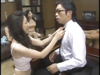 Japanese teachers fucked in group scene