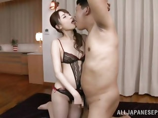 Look at this innocent and nubile young Japanese slut. She is so naughty and today, she's going to suck the cock of a much older man. She gets him