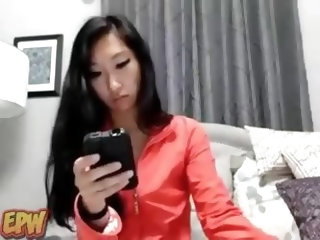 Asian babes have their big pussies wet all the time and I prove it in this home made movie. Here I insert in my hole a dildo and I masturbate very rou