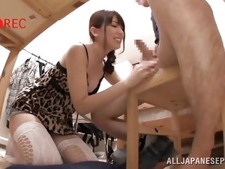 Are you fond of lovely bitches from the Orient? Yui is a Japanese busty babe, dressed up provocatively in a short dress with leopard print. Watch her