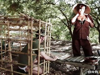 London Keyes is a Viet Cong soldier in the Vietnam war and James Deen is an American soldier who she locks up. She lets him out of his Cage so she can