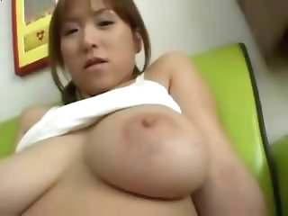Funny asian couple at home