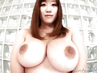 Her japanese huge breasts are asking for our full attention and she won't take less then that. I mean look at her jugs, they are perfect for grop
