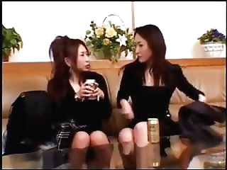 Asian Girl In Black Dress Getting Her Tits Rubbed Kissing Passionately On The Couch