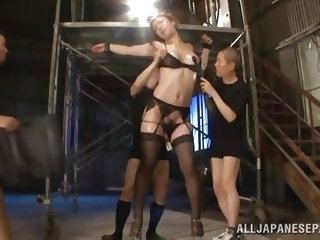 Who said short guys can't have a piece of tall pussy. Erika is an Asian milf with long legs and a very big sex drive. This tall whore is being fu
