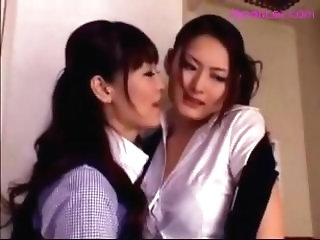 Girl In Uniform Getting Her Tits And Fake Cock Rubbed In The Office